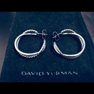 David Yurman Large Crossover Hoop